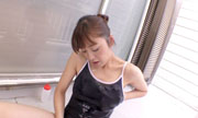 With a school swimsuit,lotion play inverandah ARISA 16