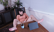 The woman masturbation with expressionless Nahoko 23