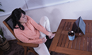 The woman masturbation with expressionless Nahoko 7