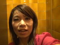 トイレで自画撮りオナニー